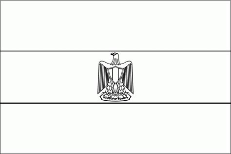 egypt flag coloring page coloring home