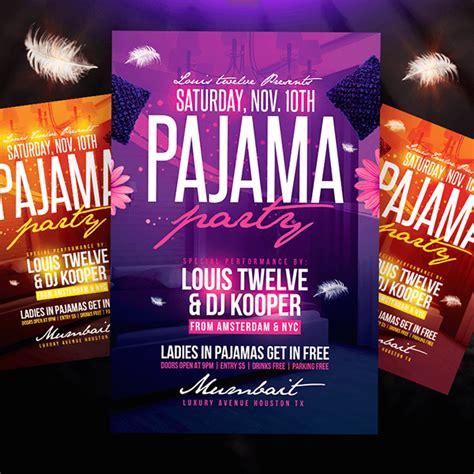 free printable slumber party invitation templates greetings island