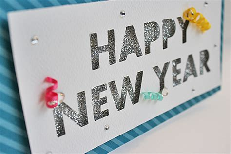 New Year Card Handmade - happy new year handmade cards using silhouette cameo