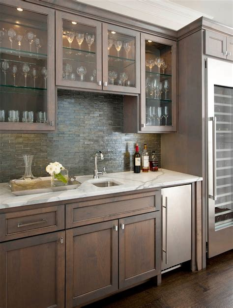 Kitchen Cabinet Bar Kitchen Bar Cabinet Home Bar Traditional With Bar Glass Shelves Gray Stained Beeyoutifullife