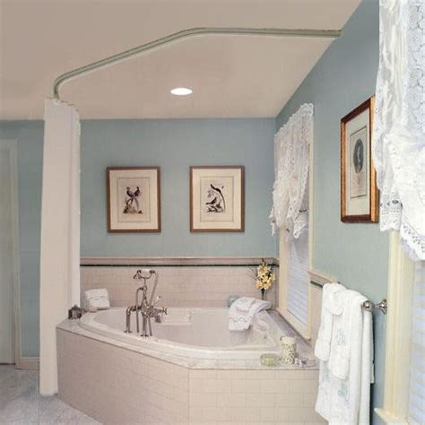 shower curtains for corner baths corner tub with curtain the wall colour bathroom