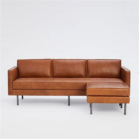 west elm axel sofa axel leather sofa 89 quot ottoman set west elm