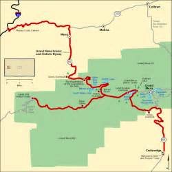 grand mesa colorado map grand mesa scenic and historic byway map america s byways
