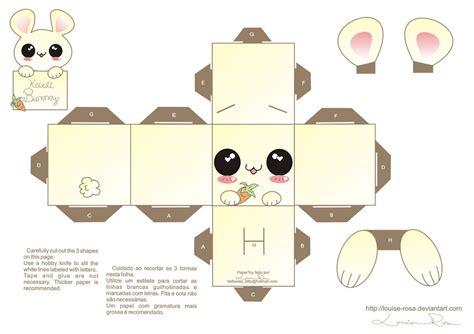 Free Paper Craft - cajitas de conejitos para imprimir gratis juguetes de