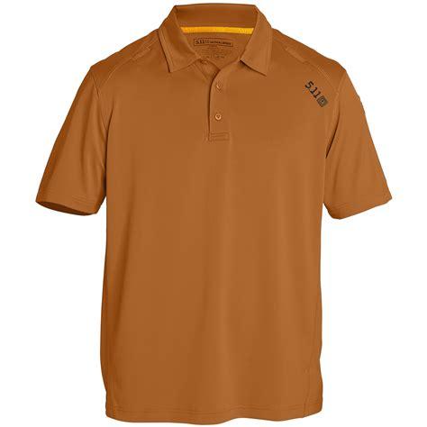Kaos Tactical Polo 511 5 11 tactical mens pursuit polo shirt cadet sleeve top terracotta ebay