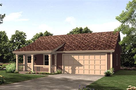 Cottage Style House Plan 1 Beds 1 Baths 496 Sq Ft Plan Small House Plans With Two Car Garage