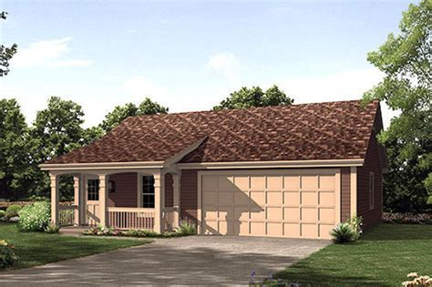 Cottage Style House Plan   1 Beds 1 Baths 496 Sq/Ft Plan