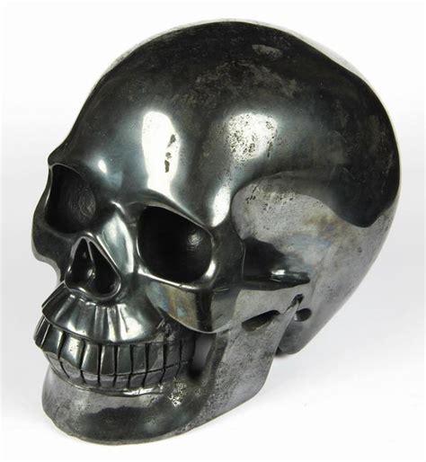 hematite skull 5 0 quot hematite carved skull realistic