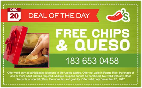 hot chip july 20 free queso chip chili s coupon