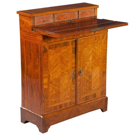 Shallow Depth Armoire by Parquetry Kingwood Secretaire Cabinet Cupboard Shallow Narrow Depth For Sale At 1stdibs
