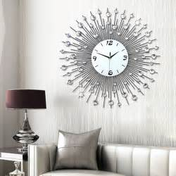 living room wall clock luminousness living room wall clock large brief fashion art watch modern fashion mute clock