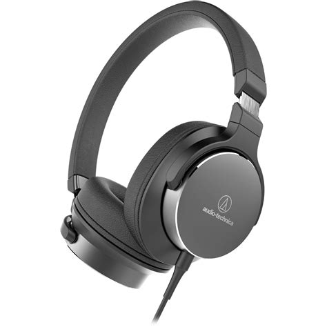 Audio Technica High Resolution Audioheadphone Ath Sr5 Black audio technica consumer ath sr5bk on ear ath sr5bk b h photo