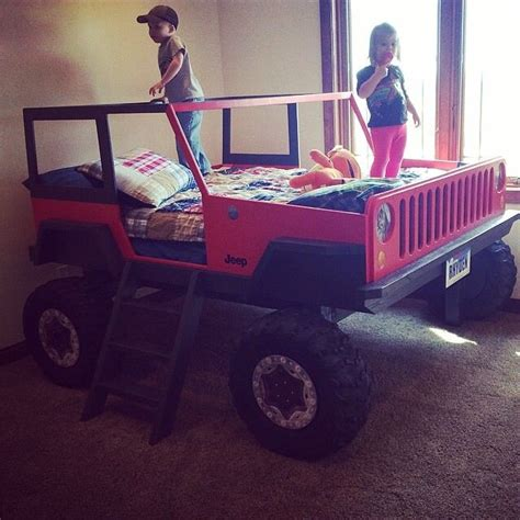 jeep bed in red jeep bed kids jeep red boys ideas for