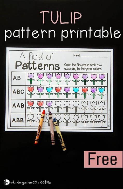 abb pattern video spring tulips math patterns printable math patterns