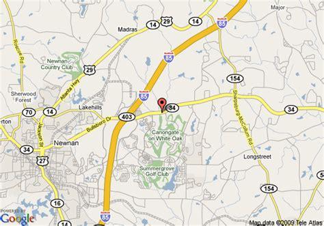 newnan map map of springhill suites newnan newnan