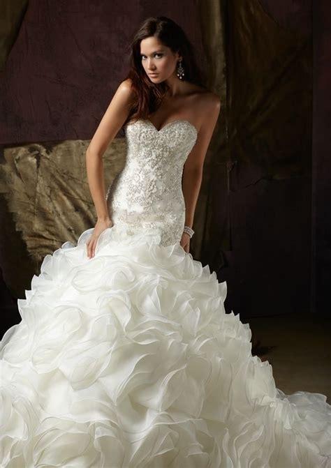 mermaid organza bridal wedding dress sweetheart bead