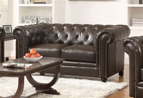 leather sofas orange county roy collection 504551 sofa loveseat set brown leather