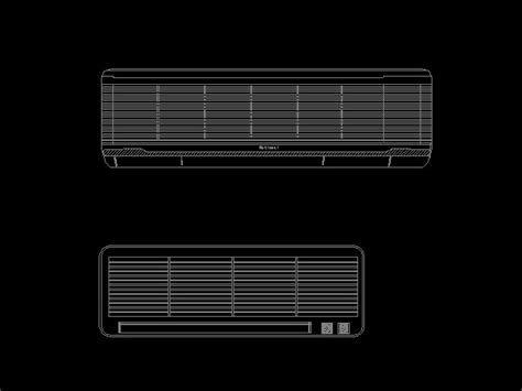 Kitchen Layout Template hanging air conditioning 2 cad amp autocad blocks