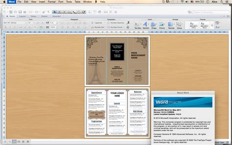 trifold menu template design templates tri fold take out menu menu templates