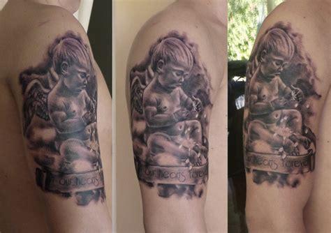 tattoo angel child 63 fantastic shoulder angel tattoos