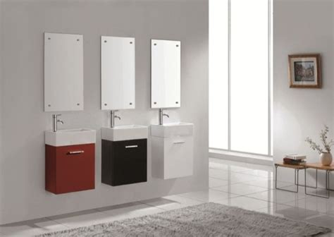 Small Modern Bathroom Vanity Sink Lille Wall Hung Vanity For Small Bathroom Modern