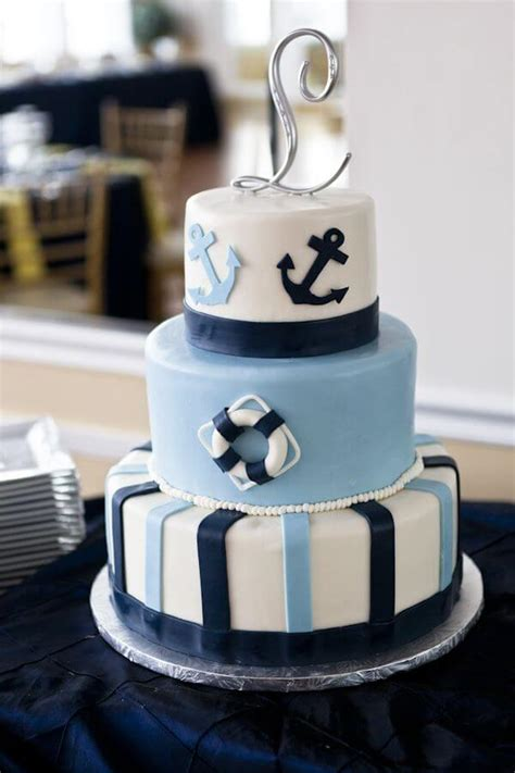 Nautical Bridal Shower Cakes by Unique Nautical Baby Shower Cake Ideas For Boy Baby