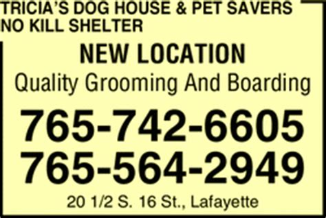 dog house lafayette tricia s dog house pet savers no kill shelter lafayette in 47904 yellowbook