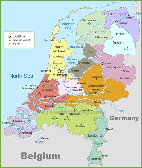 netherland city map netherlands political map