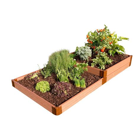 Frame It All Raised Garden Beds Frame It All Two Inch Series 4 Ft X 8 Ft X 11 In Terraced Multi Level Classic