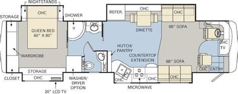 Floor Plans For My Home 2008 monaco diplomat 40pdq used motorhomes and rvs for sale