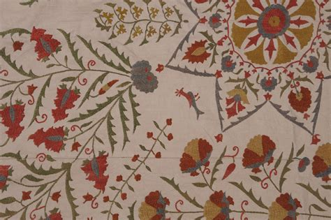 suzani coverlet antique suzani embroidered coverlet image 5