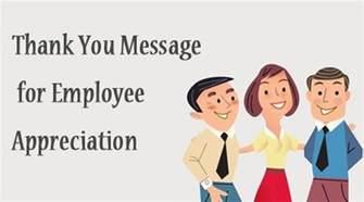 Appreciation Message Employees appreciations messages to employees thank you message for employee