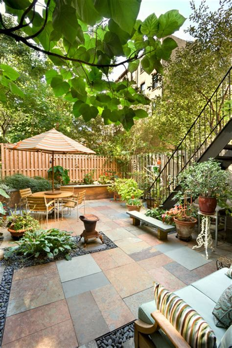 Backyard Nyc by Patio Historic Townhouse New York