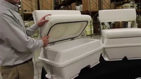 cooler seat for a boat moeller swingback coolers video jan2015 iboats youtube