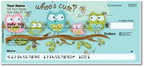 cute pattern checks owl checks cute owl designs on personal bank checks