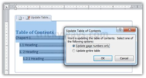 Create Table Of Contents In Word 2010 by How To Create Table Of Contents In Word 2007 2010 Office