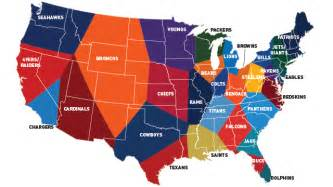 united states map nfl cities data provide the most accurate nfl fandom map