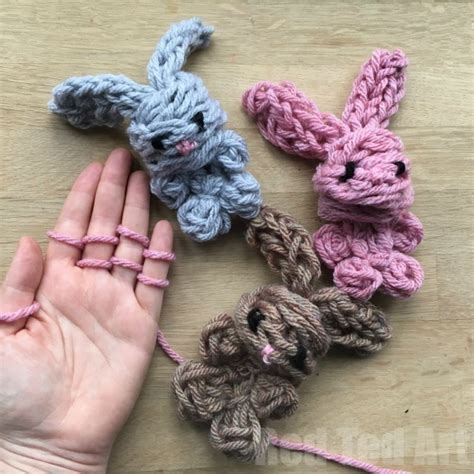 finger knitting finger knitting bunnies that even the can make all