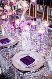 purple silver and white wedding table decorations suhaag garden indian wedding decorator florida