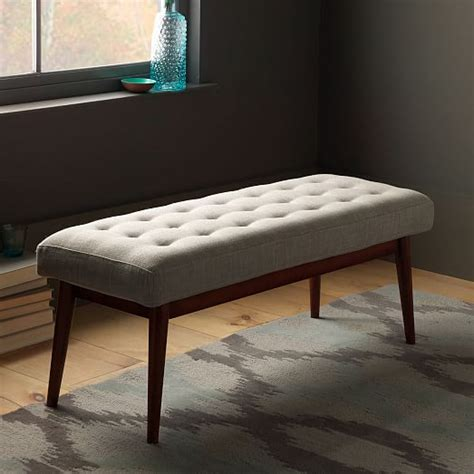 west elm x bench mid century upholstered bench west elm