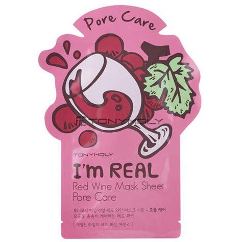 Masker Tony Moly I M Real tony moly i m real wine mask sheet 5sheets tony moly mask sheets shopping sale