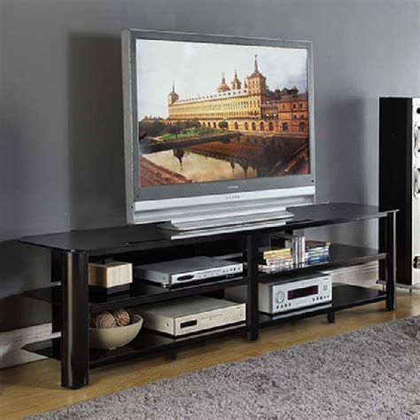 tv stands black innovex oxford series 82 inch flat screen tv stand black