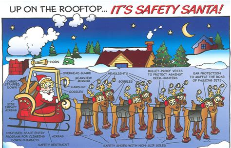 safety comic s of the day santa style merry christmas