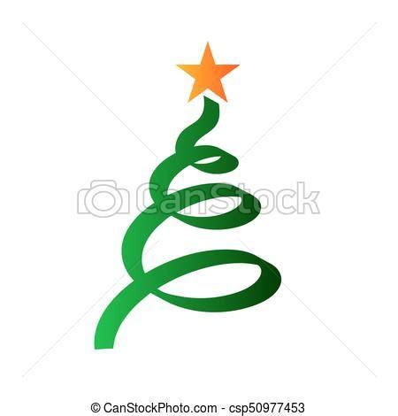 albero natale clipart stilizzato albero natale stella albero isolato