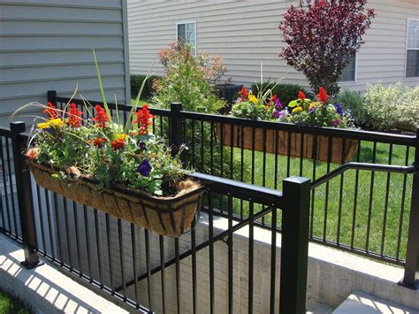 Deck Railing Flower Planters by Flower Box Ideas For Balcony Windows Indoor And Front Yard