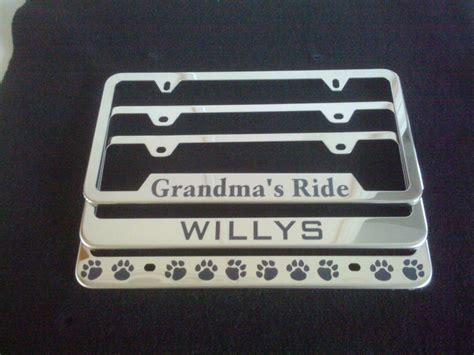 Vanity License Plate Frames by Custom Personalized License Plate Frames