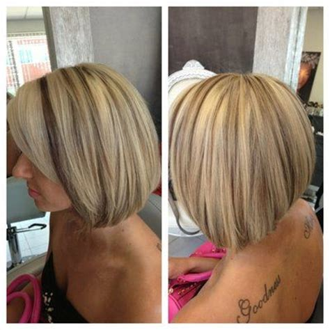 highlow hair color and cut blonde high and low lights short style low lights on