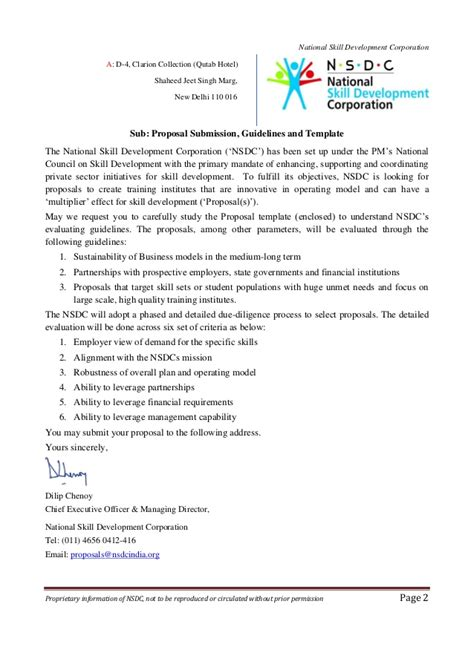 Business Tie Up Letter Format Pdf Nsdc For Indian Ngos
