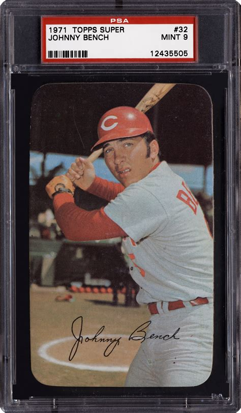 johnny bench baseball cards 1971 topps super johnny bench psa cardfacts