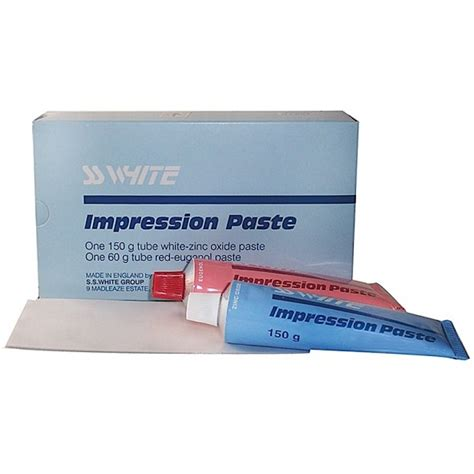 Ss U Font White ss white zinc oxide eugenol impression paste 210g